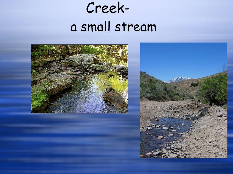 a small stream Creek-