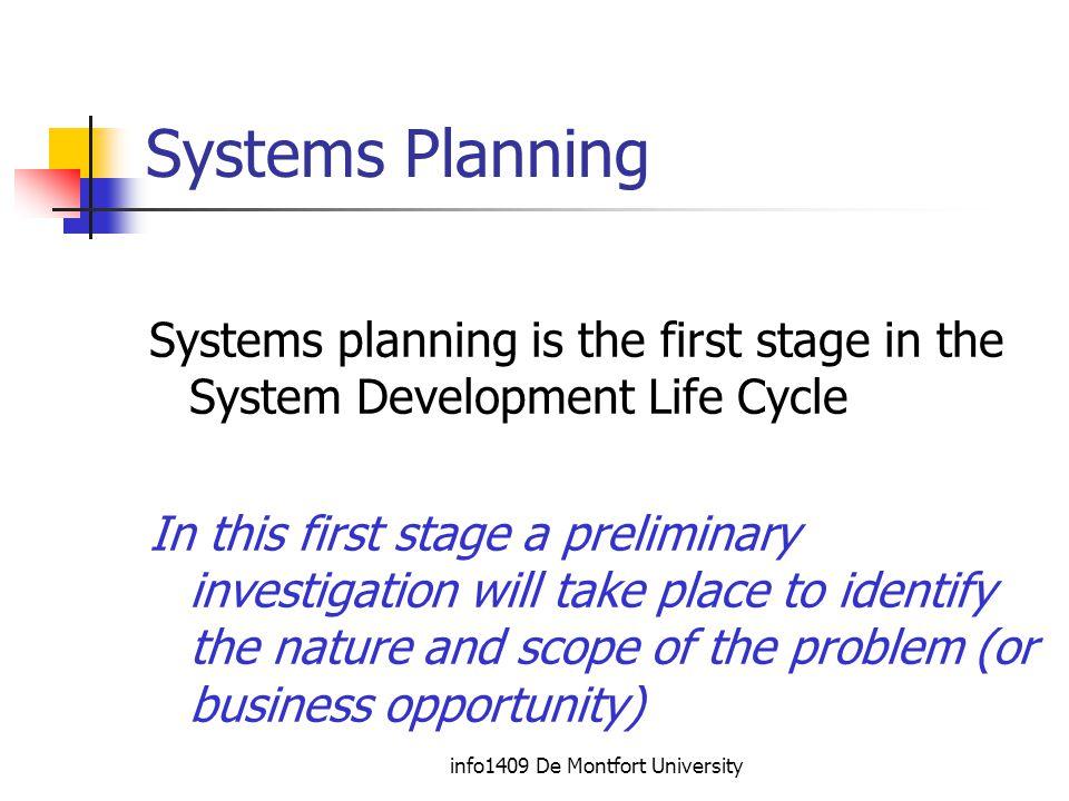 info1409 De Montfort University Stage 3 - Systems Design.