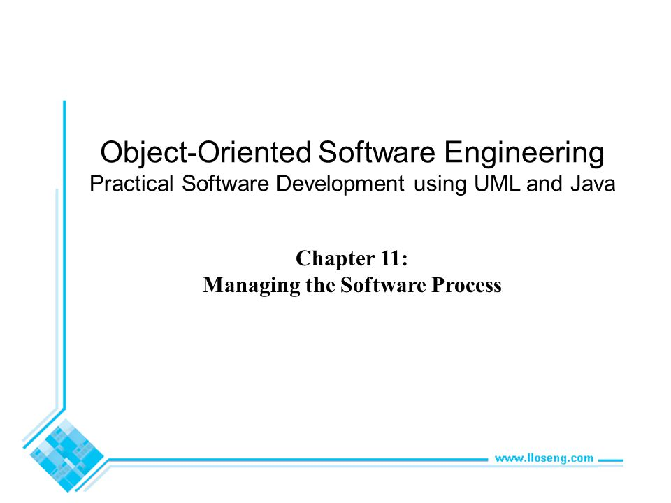 Object-Oriented Software Engineering Practical Software Development using UML and Java Chapter 11: Managing the Software Process