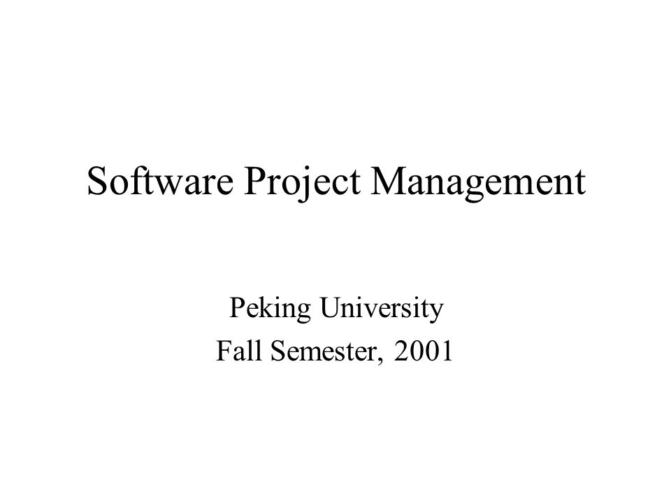 Course Description Catalog –Process context of software development.