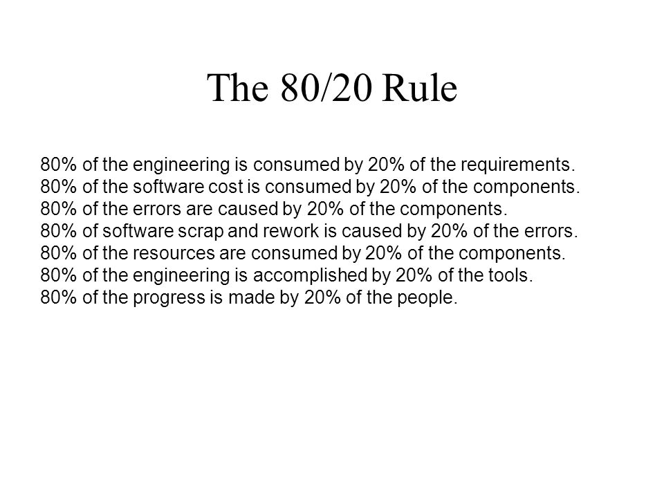 Summary Conventional software development process today is unreliable and and immature.