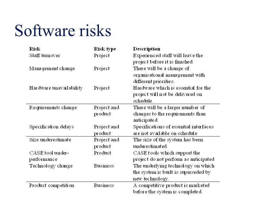 Software risks