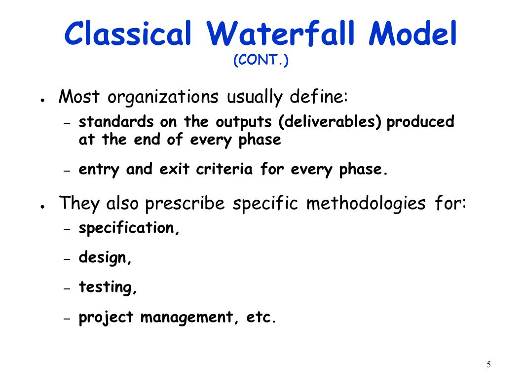 36 Iterative Waterfall Model (CONT.) ● Errors should be detected  in the same phase in which they are introduced.