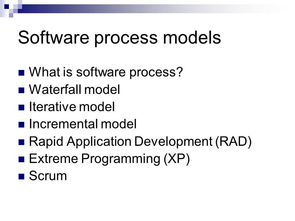 Software process models What is software process.