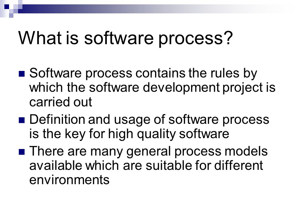 What is software process.