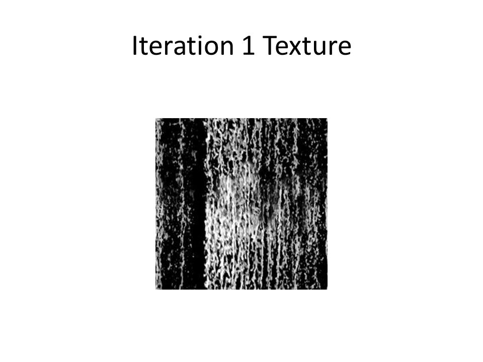 Iteration 1 Texture