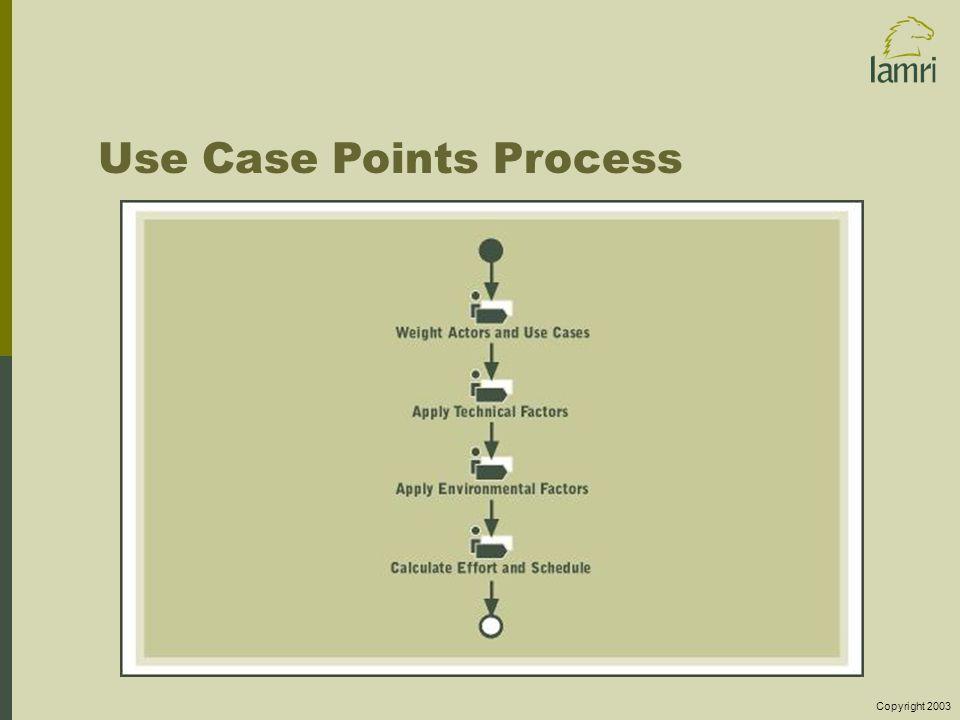 Copyright 2003 Use Case Points Process
