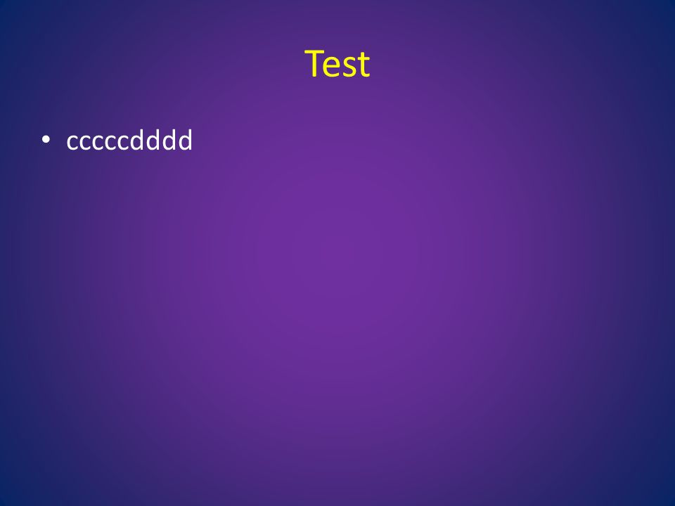 Test cccccdddd