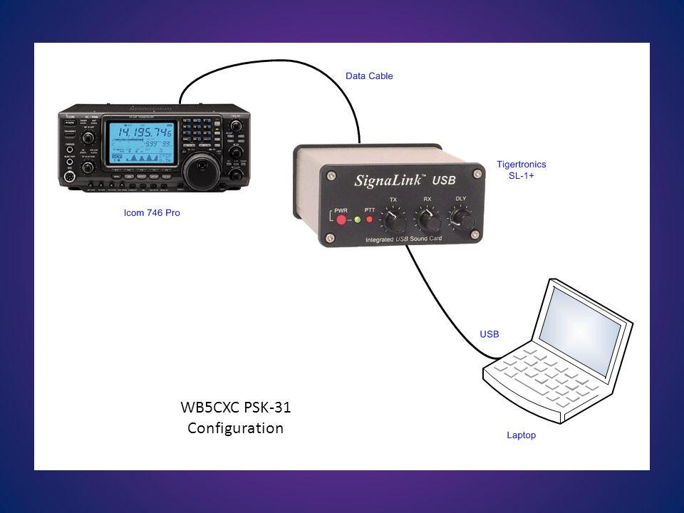 WB5CXC PSK-31 Configuration