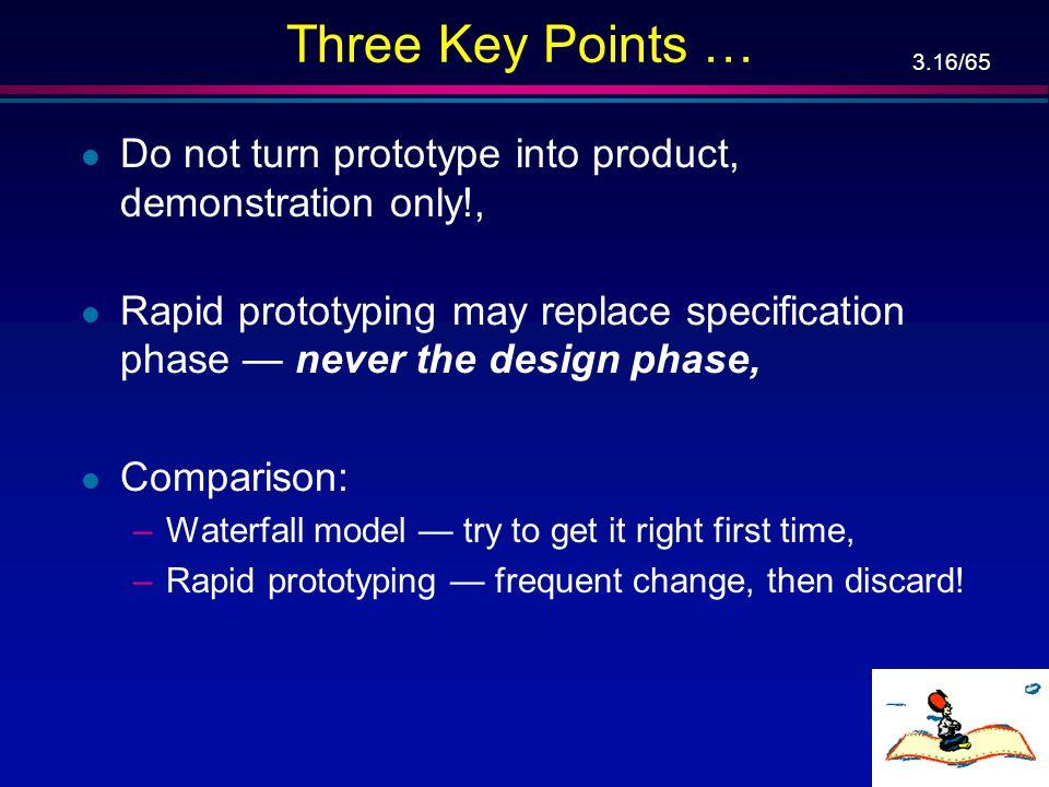 3.15/65 Rapid Prototyping Model … Planning
