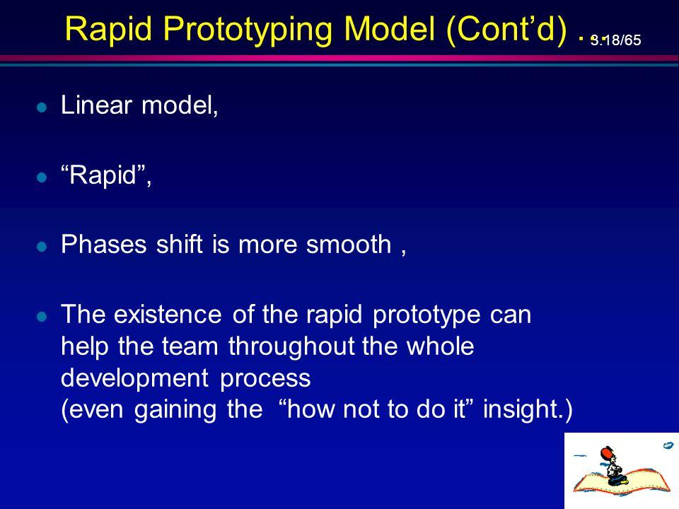 3.17/65 Rapid Prototype – מודל אב טיפוס מהיר … פיתוח אחזקה אימות אב-טיפוס הפעלה מבצעית פרישה אימות אפיון אימות תכן אימות מימוש אישור שילוב אימות תכנון