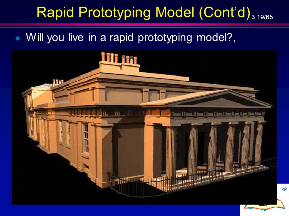 """3.18/65 Rapid Prototyping Model (Cont'd) … l Linear model, l """"Rapid"""", l Phases shift is more smooth, l The existence of the rapid prototype can help t"""