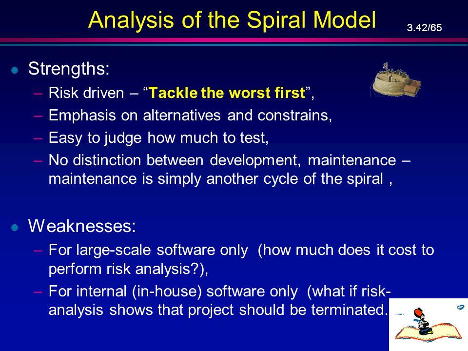 3.41/65 Full Spiral Model (Cont'd) …