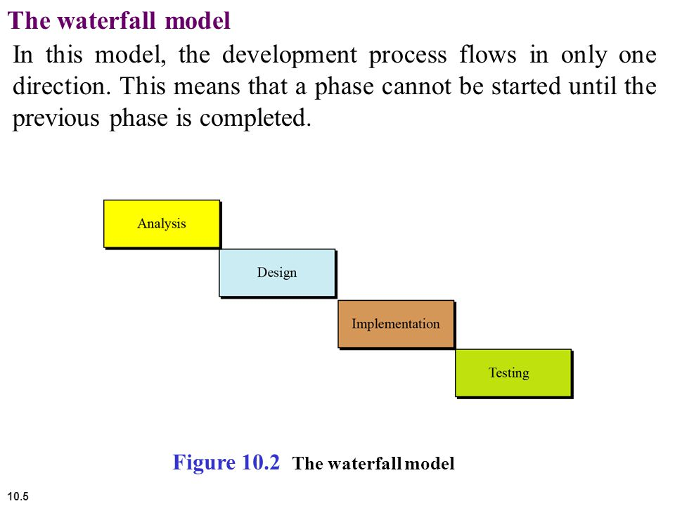 10.6 The incremental model In the incremental model, software is developed in a series of steps.