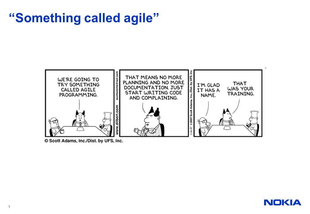 """1 """"Something called agile"""""""