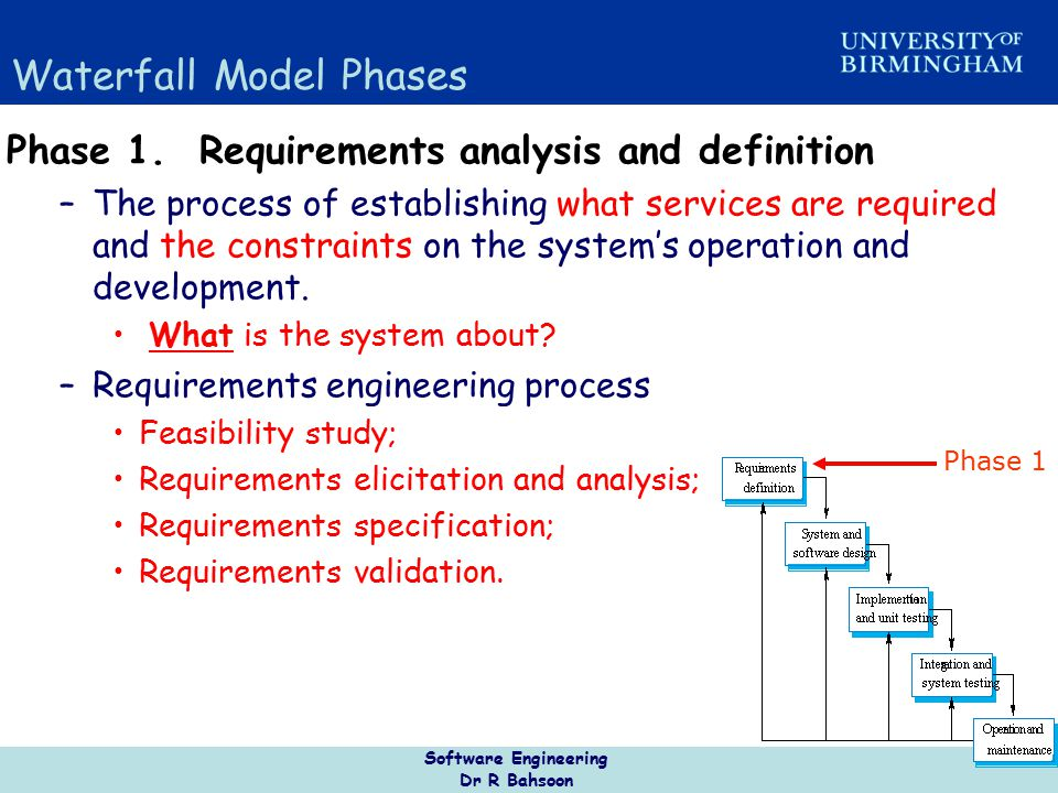 Software Engineering Dr R Bahsoon 18 Incremental Delivery Rather than deliver the system as a single delivery, –the development and delivery is broken down into increments with each increment delivering part of the required functionality User requirements are prioritised –highest priority requirements are included in early increments Once the development of an increment is started, the requirements are frozen though requirements for later increments can continue to evolve