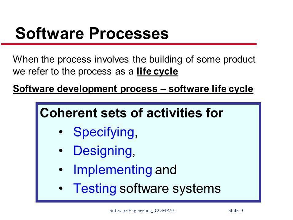Software Engineering, COMP201 Slide 14 3.