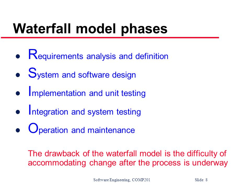 Software Engineering, COMP201 Slide 29 The requirements engineering process