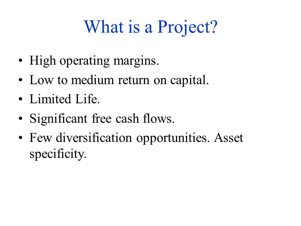 What is a Project.Projects have unique risks: –Symmetric risks: Demand, price.