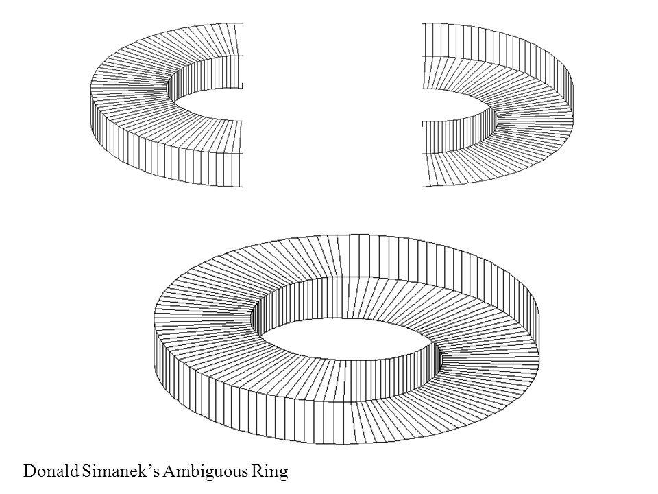 Donald Simanek's Ambiguous Ring