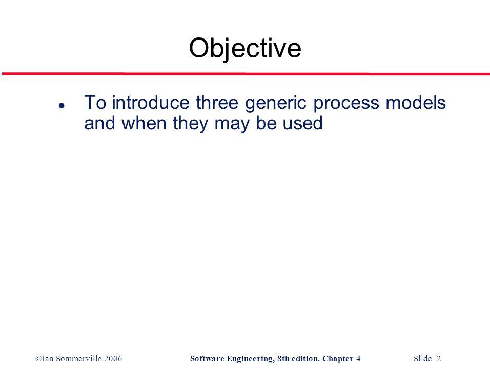 ©Ian Sommerville 2006Software Engineering, 8th edition. Chapter 4 Slide 13 Evolutionary development