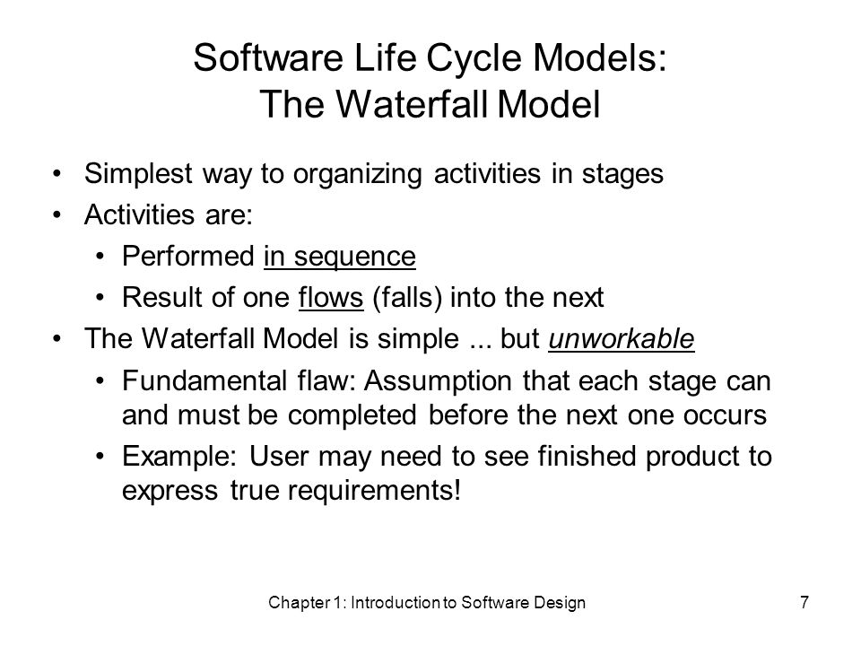 Chapter 1: Introduction to Software Design48 ArrayBasedPD.save public void save() { if (!modified) return; // save not needed try { // Create PrintWriter for the file.