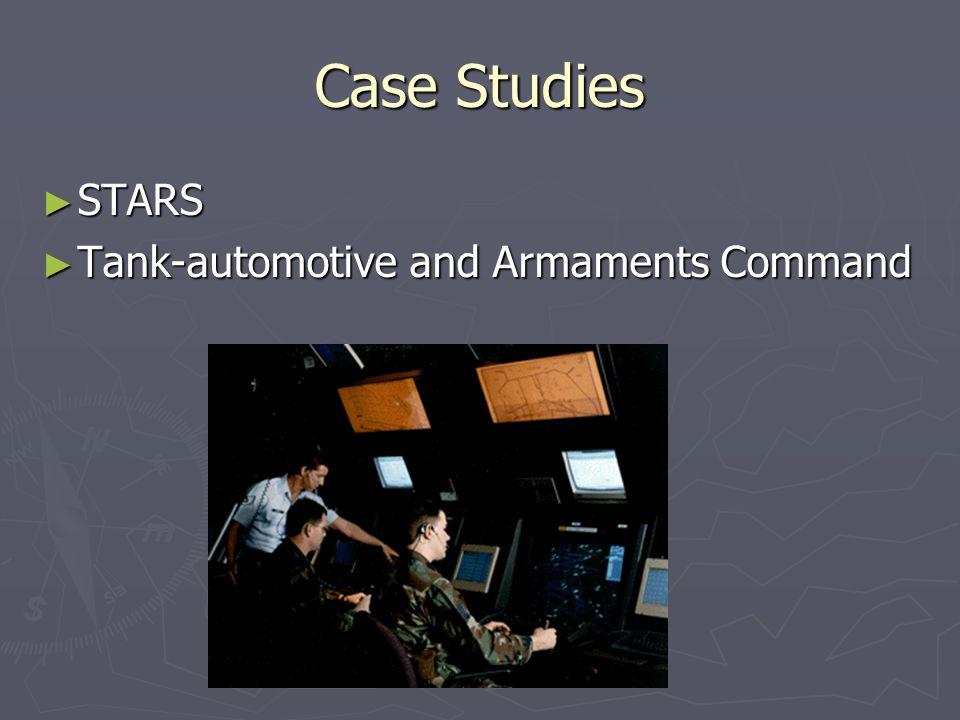 Case Studies ► STARS ► Tank-automotive and Armaments Command