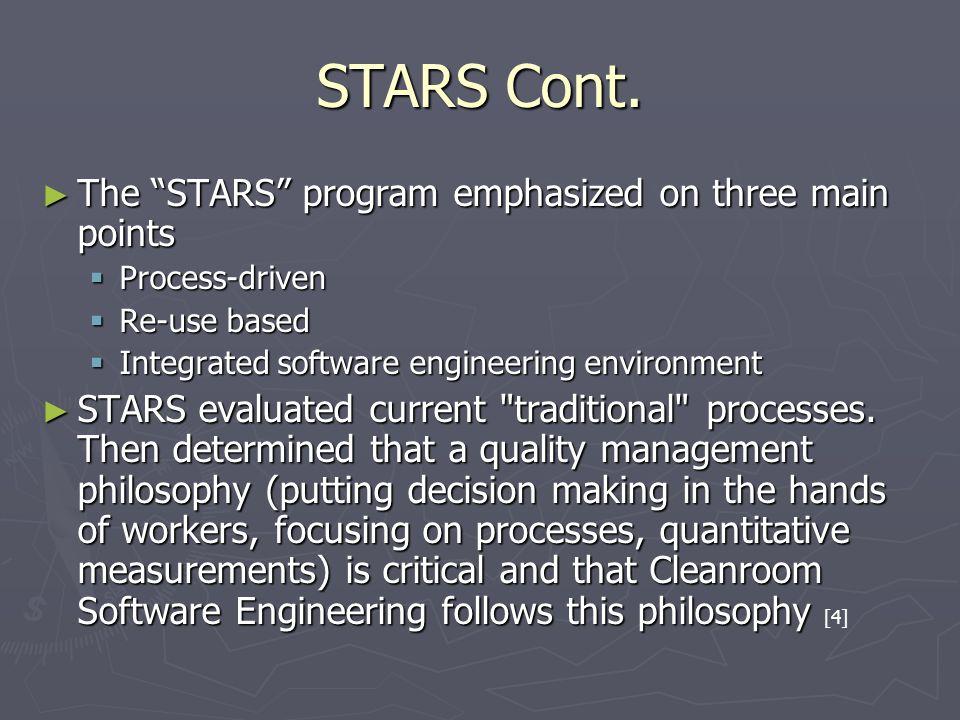 STARS Cont.