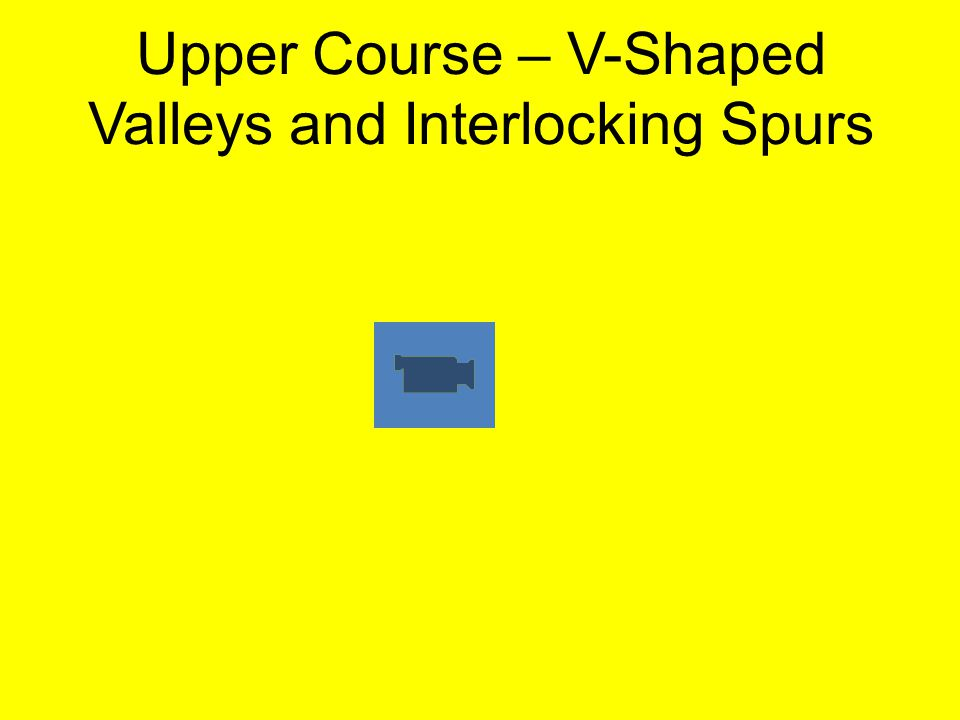 Upper Course – V-Shaped Valleys and Interlocking Spurs