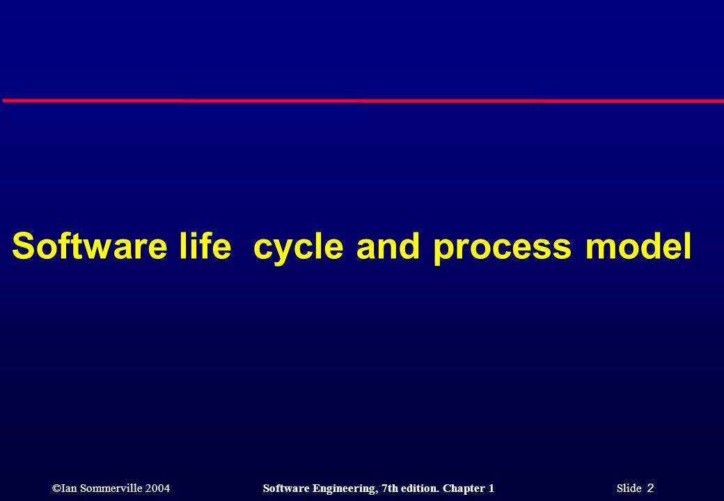 ©Ian Sommerville 2004Software Engineering, 7th edition. Chapter 1 Slide 23 Spiral development