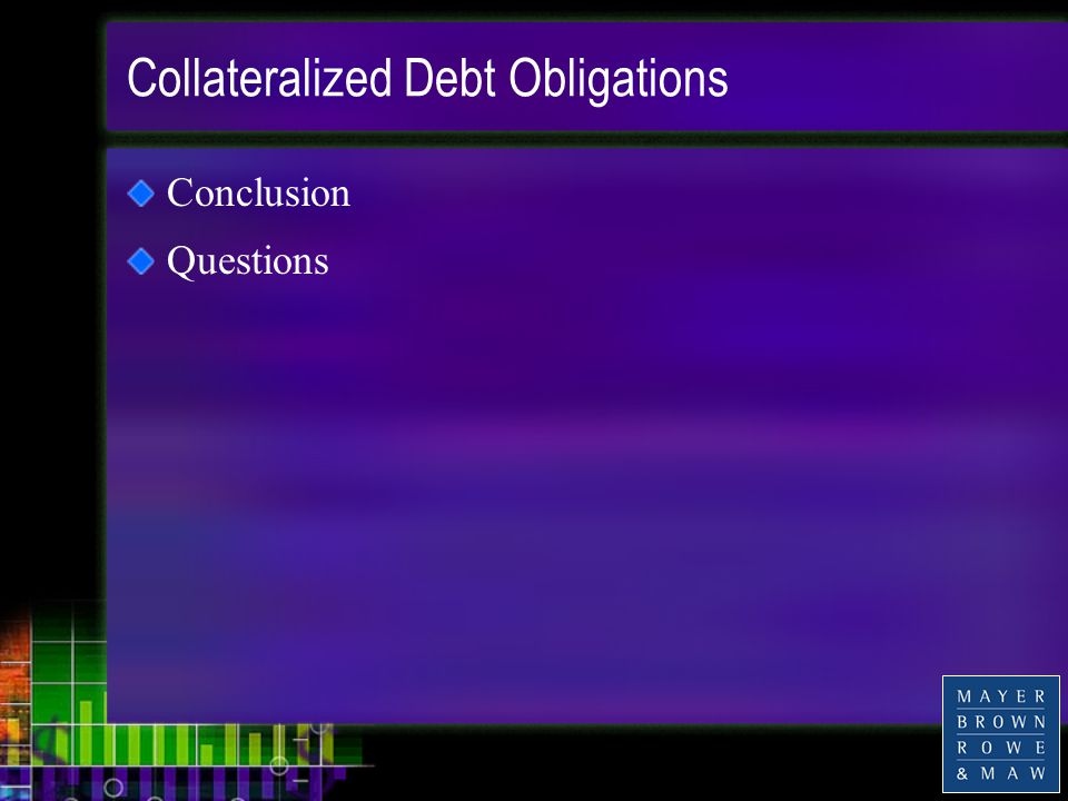 Collateralized Debt Obligations Conclusion Questions
