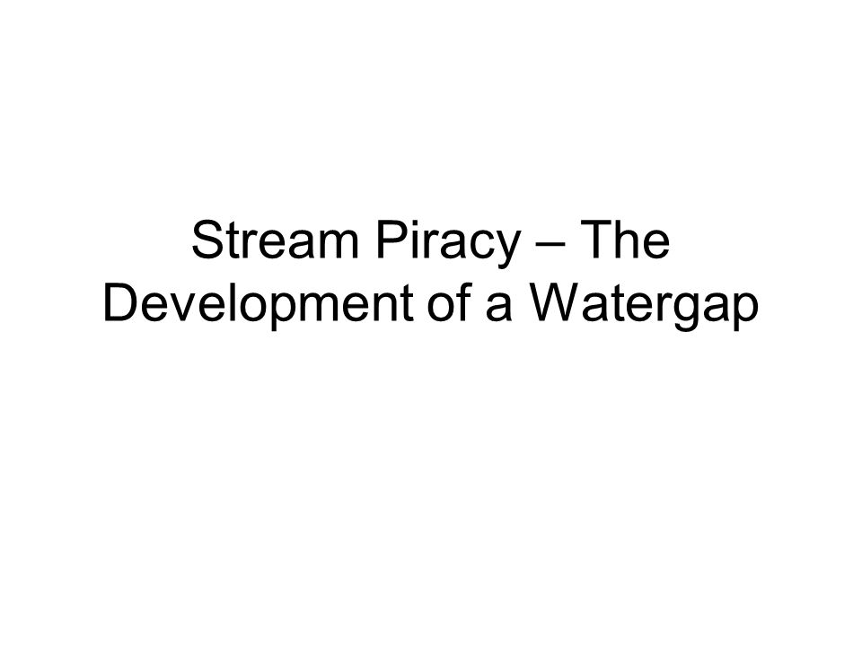 Stream capture, or stream piracy, is a geomorphic phenomenon that occurs when a stream or river from a neighboring drainage system or watershed erodes through the divide between two streams and captures another stream which then is diverted from its former bed and now flows down the bed of the capturing stream.