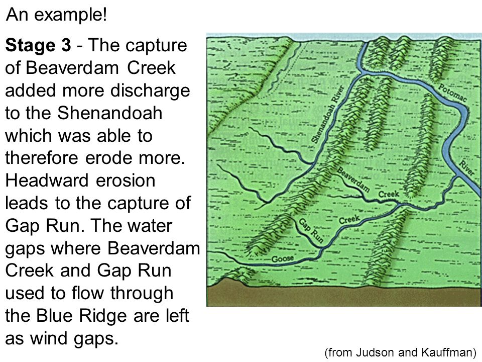 An example.Stage 4 - Eventually Goose Creek is captured as well.