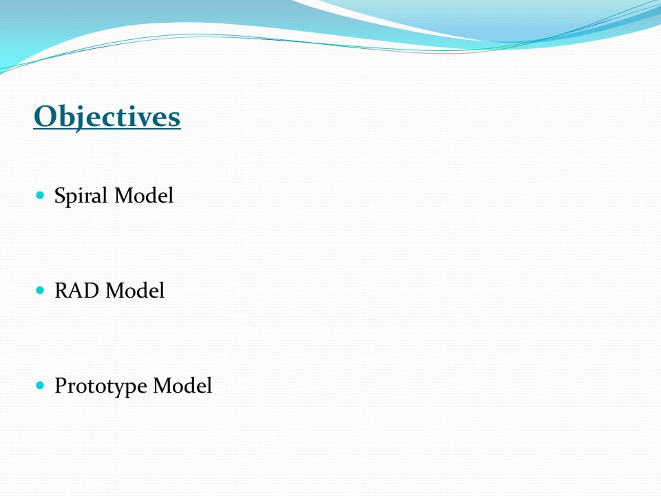 Waterfall Model Vs RAD Model How big is the project.