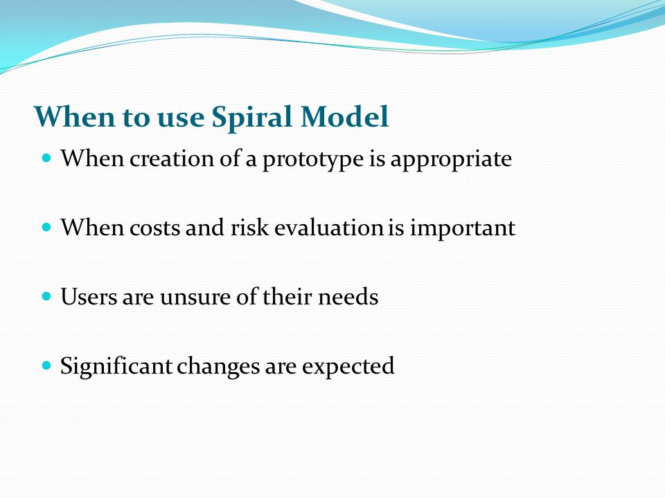 Difference b/w Waterfall and Spiral Model Risk Factor Requirements are freezed Linear sequential and Loop Spiral Model is costly better communication between developer and customer