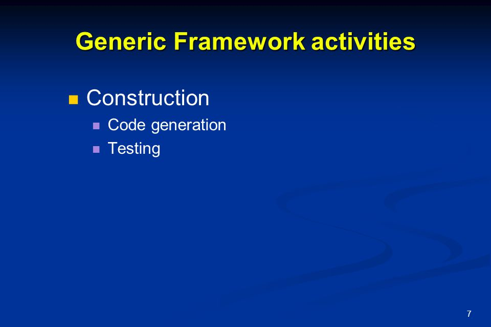 8 Generic View of SE SW Engineering is the: SW Engineering is the: Analysis, Analysis, Design, Design, Construction, Construction, Verification and.