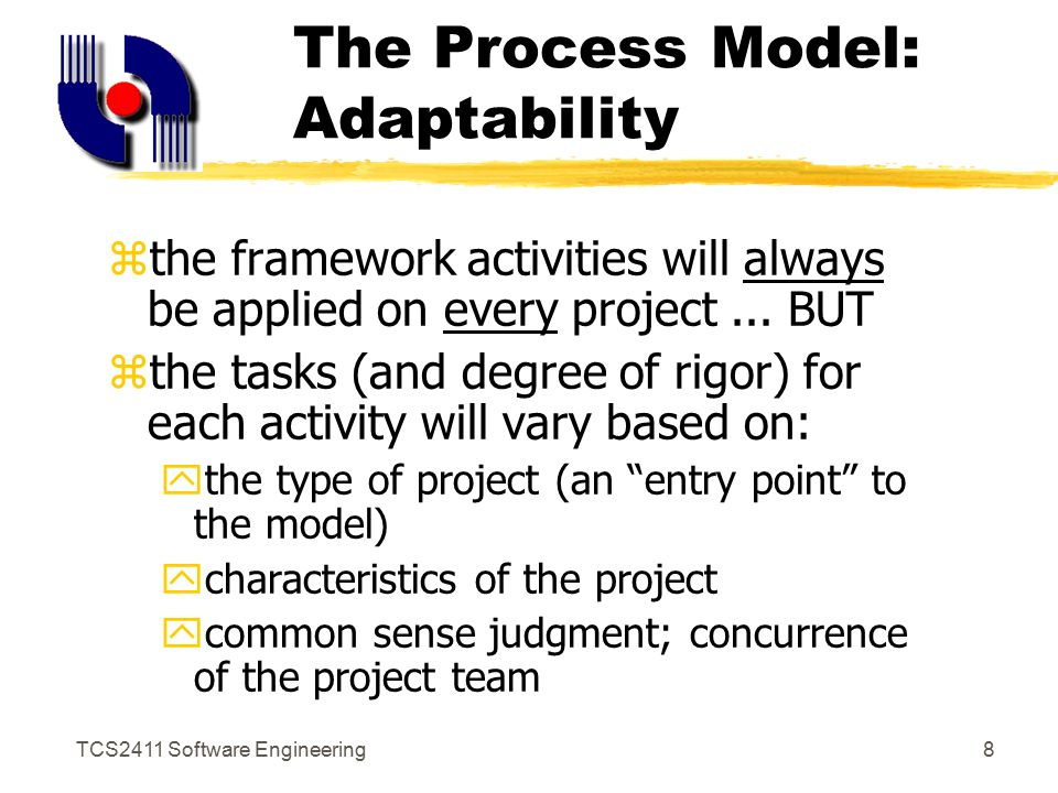 TCS2411 Software Engineering7 Process as Problem Solving