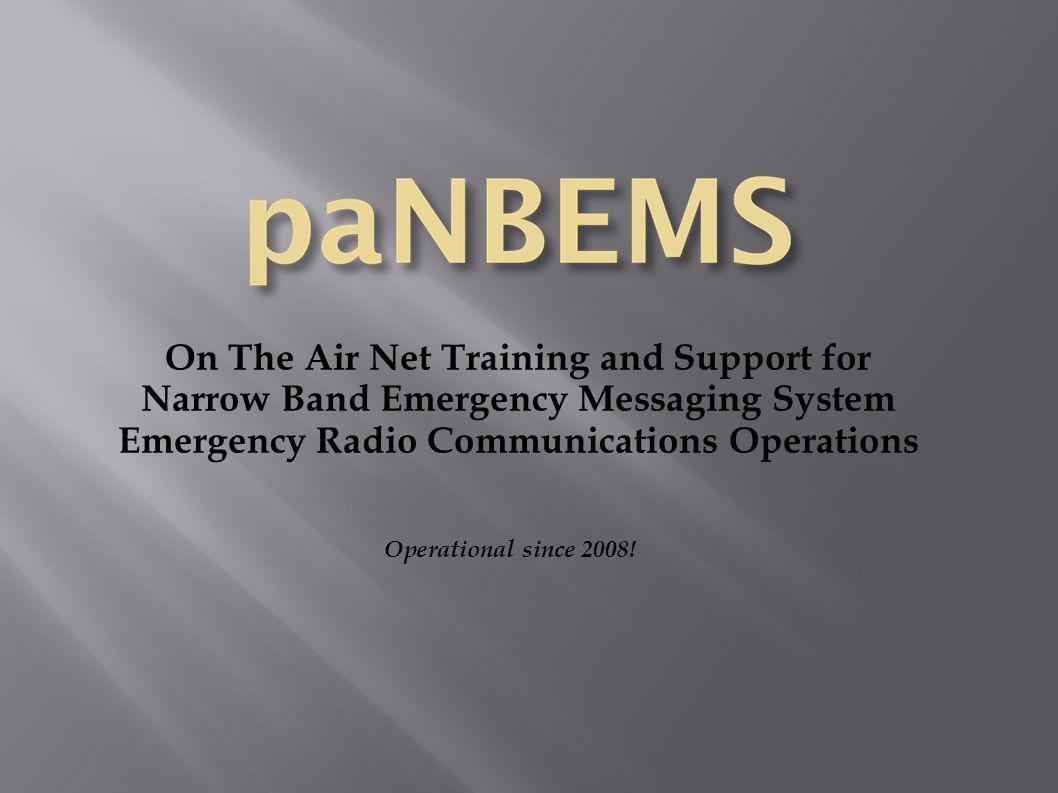 NBEMS Basic Setup and Configuration for PEMA/ACS Operations