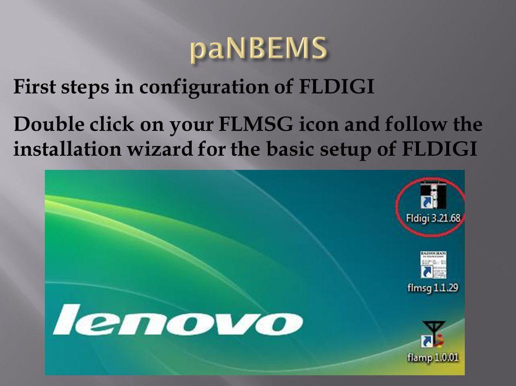 First steps in configuration of FLDIGI