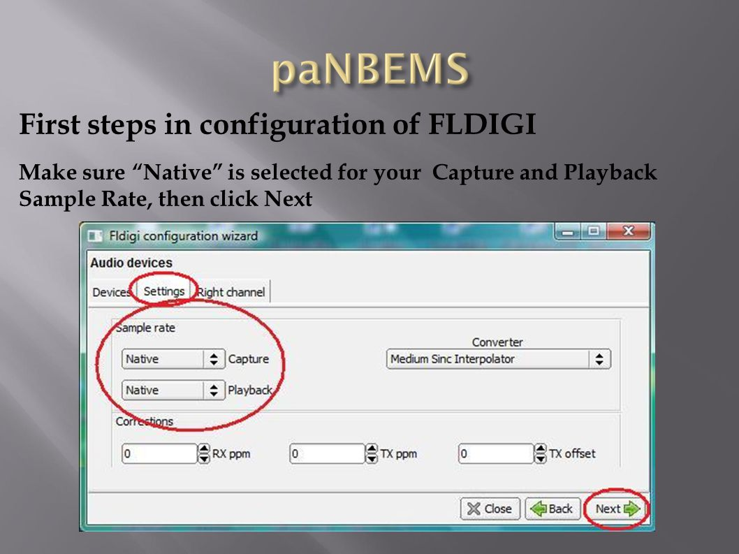 First steps in configuration of FLDIGI Double Click the FLMSG icon on your desktop, then fill in your personal information