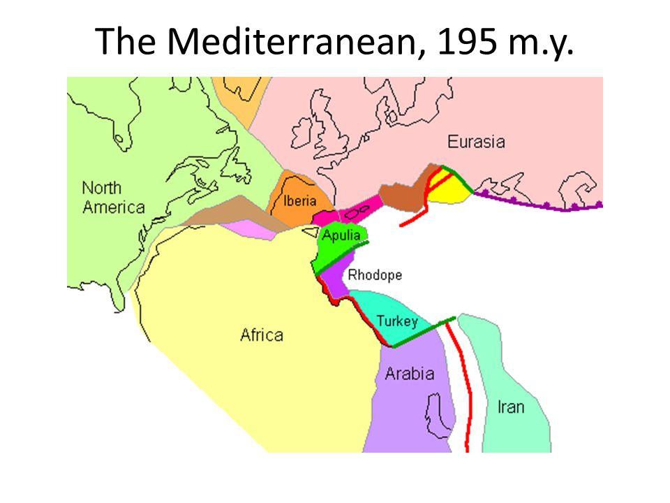 The Mediterranean, 195 m.y.
