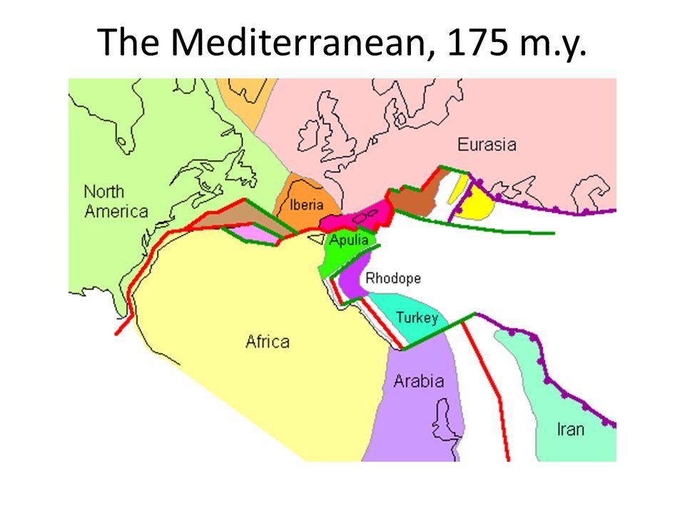 The Mediterranean, 175 m.y.