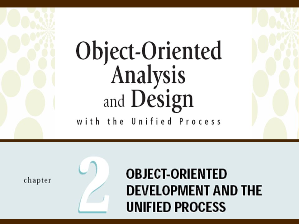 2Object-Oriented Analysis and Design with the Unified Process Overview  Traditional systems development life cycle (SDLC)  Unified Process (UP)  Iterative, incremental, adaptive approach to life cycle  Nine disciplines: six for system development, three for support  Review object-oriented (OO) concepts  Describe computer support tools such as CASE  Apply UP to the development project of RMO