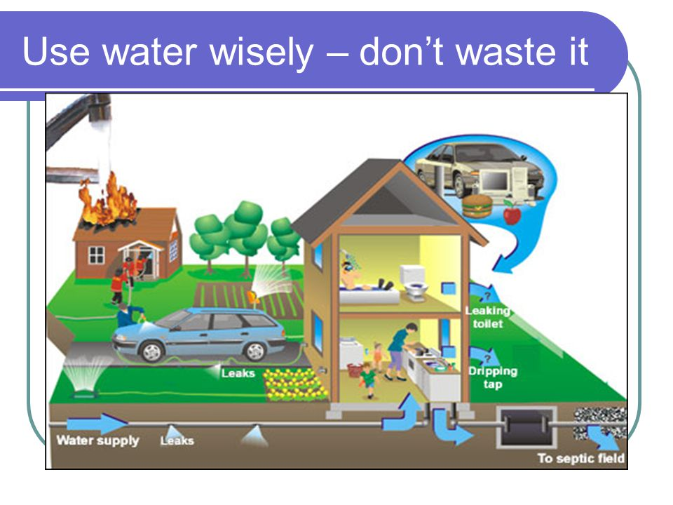 Use water wisely – don't waste it