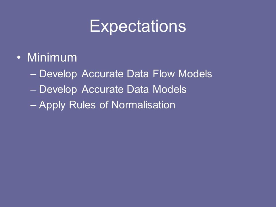 Plan Introduction Structured Methods –Data Flow Modelling –Data Modelling –Relational Data Analysis –The Effect of Time Further Topics