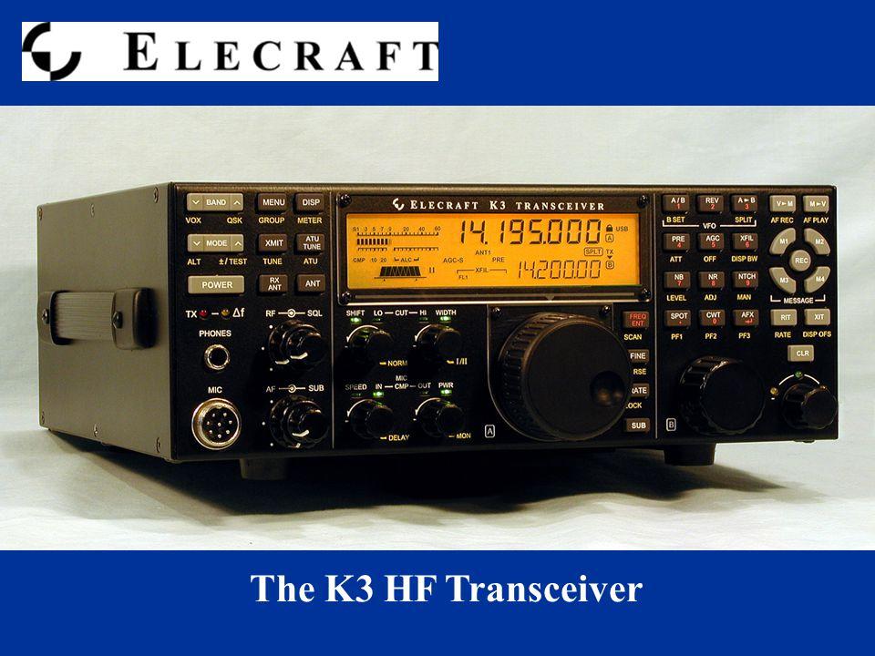 The K3 HF Transceiver