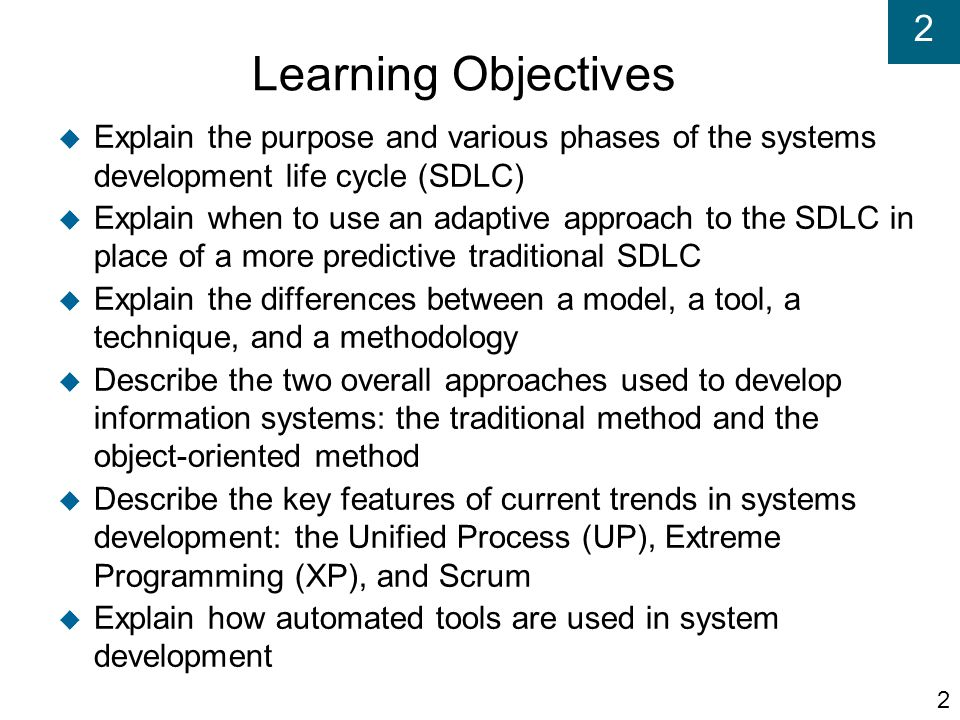 2 The Unified Process (UP) (cont'd)  Reinforces six best practices Develop iteratively Define and manage system requirements Use component architectures Create visual models Verify quality Control changes 43