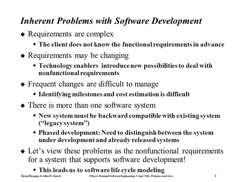 Copyright 2002 Bernd Brügge Software Engineering II, Lecture 3: Scheduling SS 2002 37 Activities (Cycles) in Boehm's Spiral Model  Concept of Operations  Software Requirements  Software Product Design  Detailed Design  Code  Unit Test  Integration and Test  Acceptance Test  Implementation  For each cycle go through these activities  Quadrant IV: Define objectives, alternatives, constraints  Quadrant I: Evaluate alternative, identify and resolve risks  Quadrant II: Develop, verify prototype  Quadrant III: Plan next cycle  The first 3 cycles are shown in a polar coordinate system.