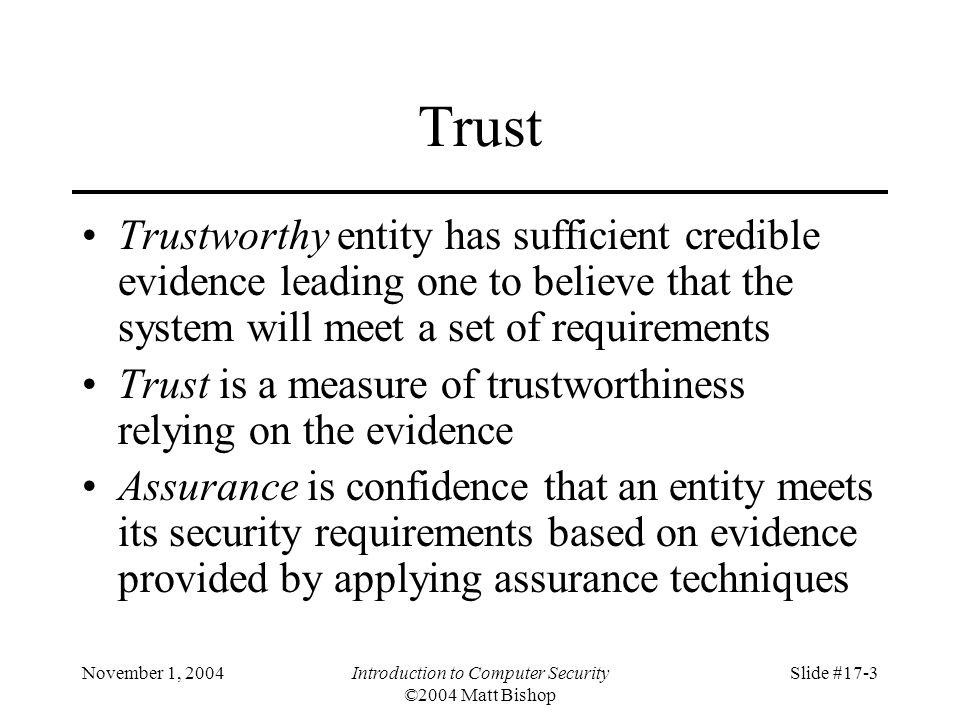 November 1, 2004Introduction to Computer Security ©2004 Matt Bishop Slide #17-4 Relationships
