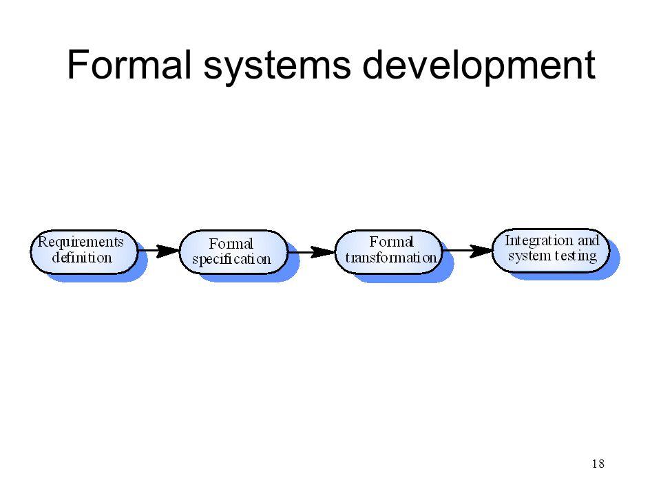 18 Formal systems development